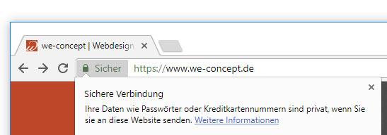 Screenshot SSL TLS Verschlüsselung